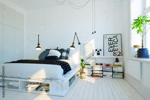 Foto  modernes, skandinavisches Schlafzimmer - modern swedish scandinavian style bedro