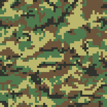 Seamless Digital Camouflage Pa...