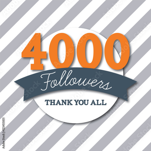 4000 followers social media thank you banner Canvas Print