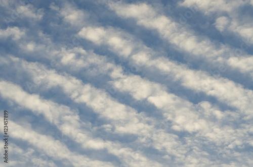 Undulated cloud,  altostratus cloud Tablou Canvas