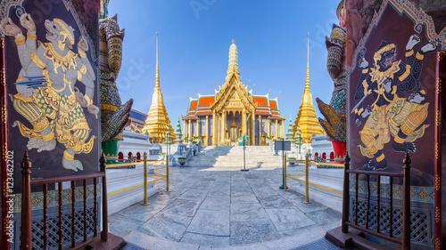 Poster Bangkok Wat Phra Kaew Ancient temple in bangkok Thailand