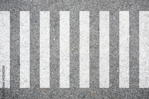Zebra crosswalk on the road for safety crossing Fototapet