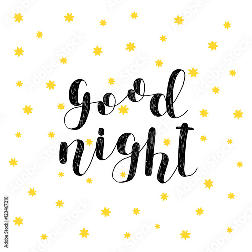Good night. Brush lettering.