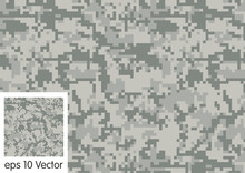 Digital Camouflage Pattern Vec...