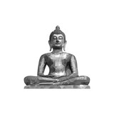 Buddha statue polygon low