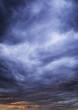 Cloudy sky before heavy rain