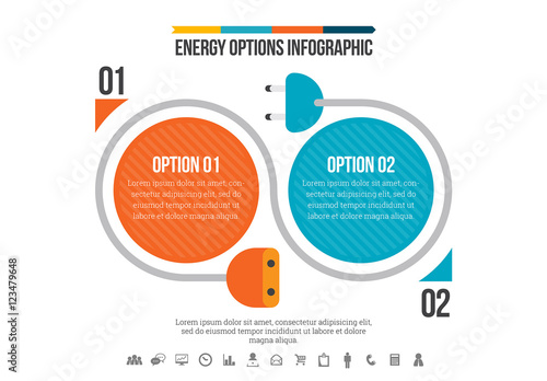 Plug Element Energy Comparison Infographic. Buy this stock template ...