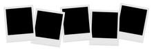 Blank Polaroid Photos In A Row
