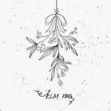 Hand Drawn Mistletoe