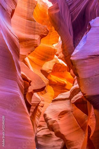 Keuken foto achterwand Rood traf. Lower Antelope Canyon in Arizona, USA.