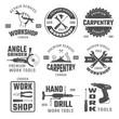 Work Tools Black White Emblems