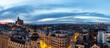 Panoramical aerial view of Madrid