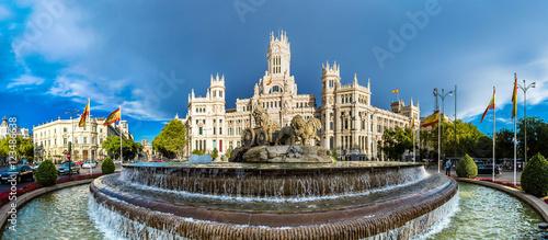 Spoed Fotobehang Madrid Cibeles fountain in Madrid