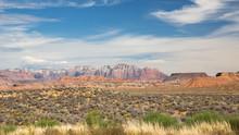 Desert Landscape In Utah, USA.