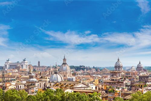 Photo  Panoramic view of Rome
