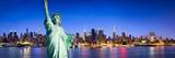 Fototapeta Nowy Jork - New York City Panorama bei Nacht