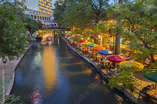 Poster Lieux connus d Amérique River Walk In San Antonio Texas