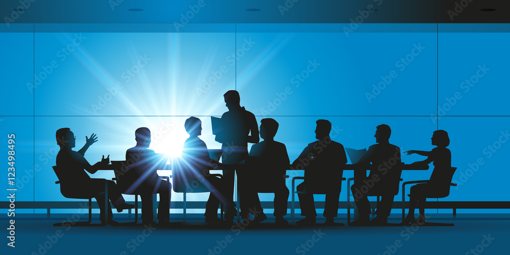 Fototapeta Réunion - entreprise - brainstorming