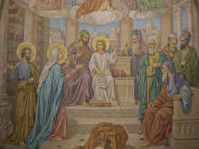 Mosaic Of Jesus Lost And Found In The Temple