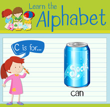 Flashcard Letter C Is For Can