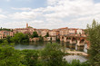 The village of Albi, France on a spring day.