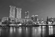 Buenos Aires - December 2, 2015: Night view of Puerto Madero, Bu