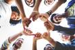 canvas print picture - Bump Hands Togetherness Friendship Happy Concept