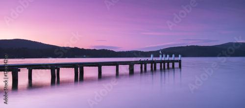 Photo Port Arthur pier and hillside.