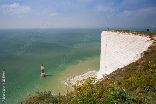 Fotografie, Obraz  Beachy Head Lighthouse, Eastbourne, East Sussex, England