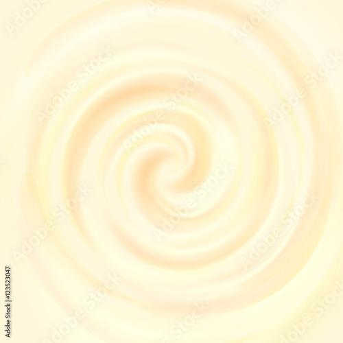 Fotografie, Obraz  Yellow swirling creamy texture, ice cream background