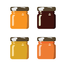 Glass Jar With Jam, Configure Or Honey