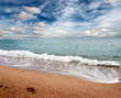 beach sandy and sunny area of the Mediterranean Sea