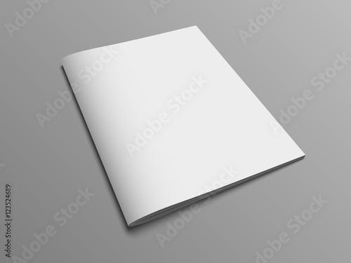 Fototapeta Blank vector catalog or brochure cover mock up. obraz