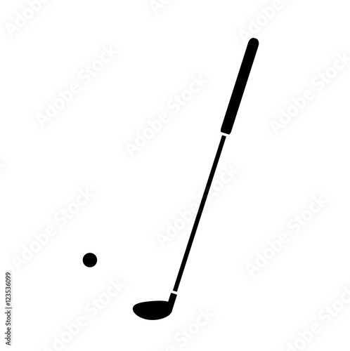 Golf Silhouette Icon A Hand Drawn Vector Illustration Of A Golf