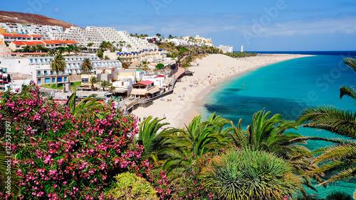 Fotografia  View on the beach Playa de Morro Jable. Fuerteventura, Spain.
