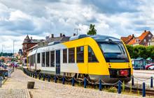 Suburban Train On Hornbaek Line In Helsingor - Denmark