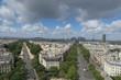 Paris vue depuis l'Arc de Triomphe
