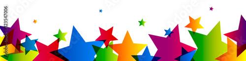 Obraz Bannière étoiles colorées - fototapety do salonu