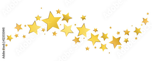 Obraz Étoiles dorées - fototapety do salonu