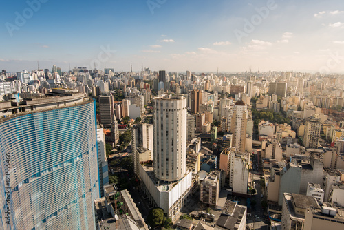 Sao Paulo Skyline with Famous Buildings
