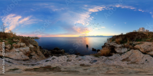 Poster  360 degree spherical panorama from Turkey, Antalya