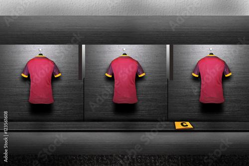 Fotografie, Obraz  football shirt on changing room