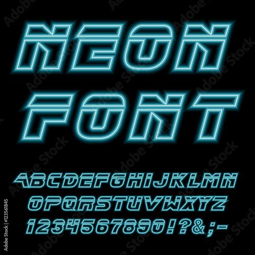 Fotomural Neon glowing typeset blade runner.
