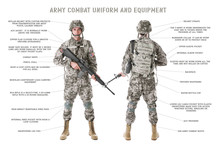 ARMY COMBAT UNIFORM And EQUIPM...