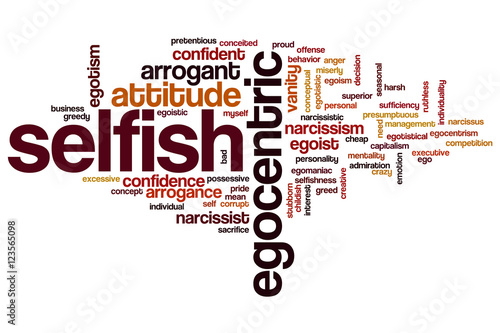Photo Selfish word cloud