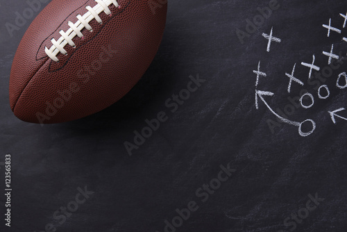Fotografie, Tablou  American Football on Chalkboard
