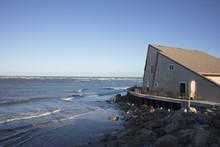 Home On Matanzas Inlet Damaged By Hurricane Matthew October 7, 2016