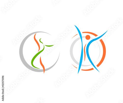 Fotografie, Obraz healthy fit logo