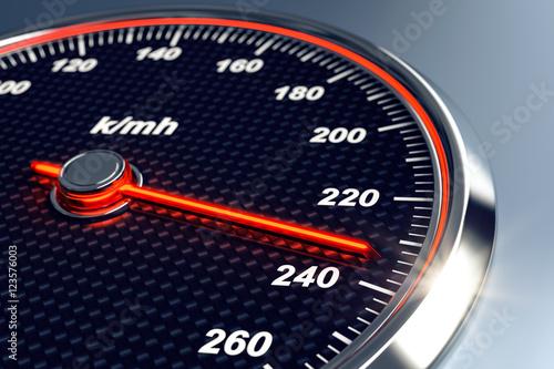 Fotografie, Obraz  3d Tacho Geschwindigkeit