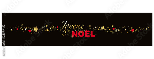 JOYEUX NOEL, BANNIERE DECORATION NOIR Canvas-taulu